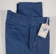 Slim fit stretch cotton pants viapiana tiny patterns