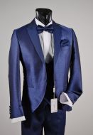 Smoking bluette musani milano cerimonia slim fit