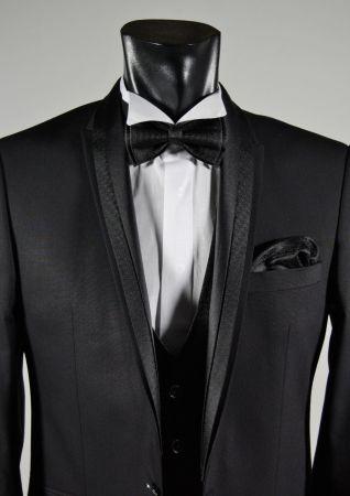 Elegant dress black slim fit musani