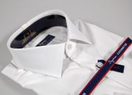 White slim fit shirt no-iron cotton ingram