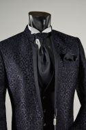 Slim fit suit groom guru Brocade musani ceremony