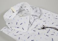 Camicia ingram slim fit stampa azzurra  blu