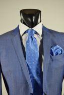 Abito in pura lana john barritt slim fit azzurro chiaro