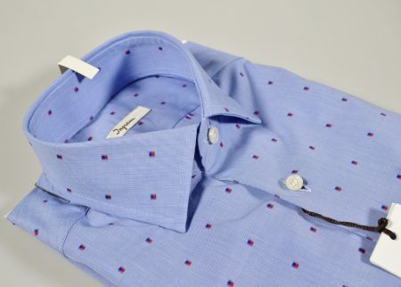 Camicia azzurra ingram slim fil coupè