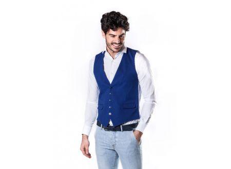 John barritt blue cotton vest