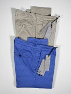 Slim fit stretch cotton pants john barritt tiny patterns