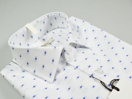 Slim fit 100% cotton oxford shirt ingram fil coupè in two colors