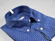 Stretch cotton button down shirt ingram in two colors