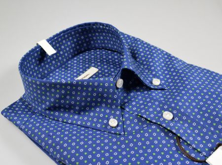 Camicia ingram button down cotone stretch in due colori