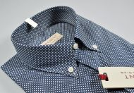 Camicia pancaldi button down blu micro fantasia regular fit