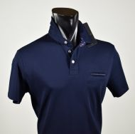 Polo maniche corte in cotone stretch con taschino