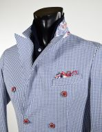 Slim fit double breasted jacket unlined falko rosso spring summer