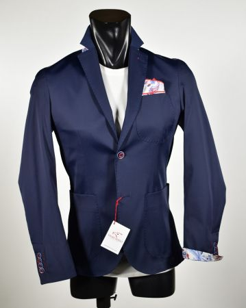Falko rosso stretch cotton slim fit jacket made in Italy