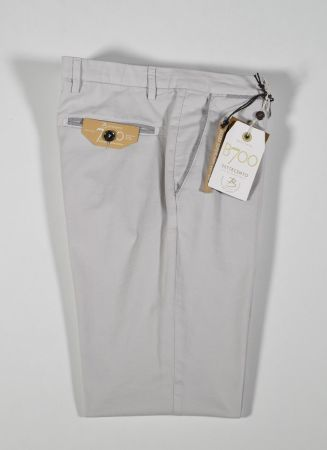 Slim fit bsettecento stretch cotton trousers in four colours