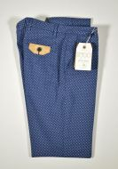 Bsettecento slim fit stretch cotton trousers in three colours