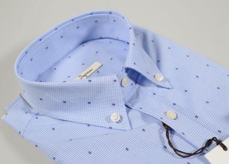 Ingram checkered shirt button down micro drawing fil coupè
