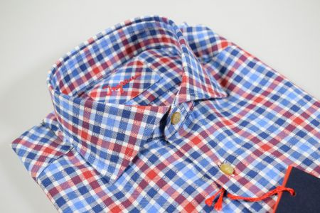 Red and blue checkered Ingram shirt slim fit