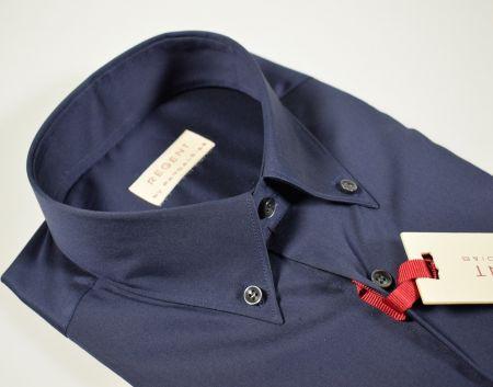 Camicia regent by pancaldi blu scuro collo button down vestibilità regolare