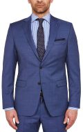 Abito drop quattro corto modern fit  digel blu marine in lana reda 110's