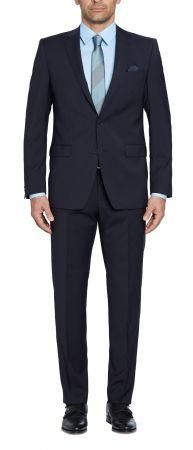 Abito blu scuro digel drop sei modern fit in lana marzotto natural stretch