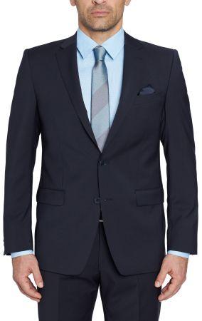 Dark blue Digel drop four short wool marzotto natural stretch dress