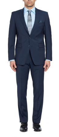 Abito blu navy digel drop sei modern fit in lana marzotto natural stretch