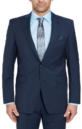 Abito blu navy digel drop quattro corto in pura lana marzotto 100's natural stretch