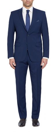Digel dress tropical blue drop six modern fit in pure wool marzotto