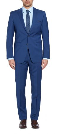 Blue Navy Digel drop six modern fit in pure wool Marzotto 100 's