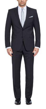 Dark grey digel drop six modern fit wool dress Marzotto 100's