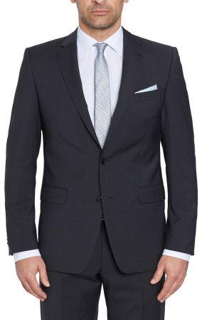 Four drop dress short Digel dark grey in Marzotto 100 ' wool.