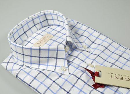 Button down pancaldi shirt in square flannel