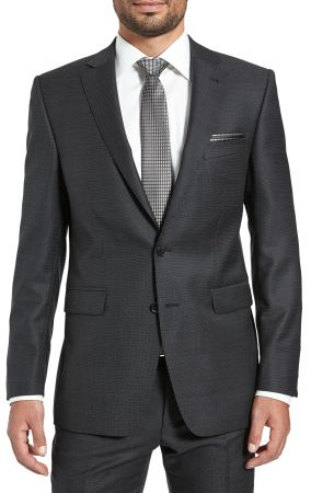 Dress drop four short digel black in pure wool Reda 110 's