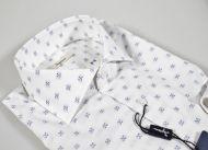 Camicia ingram slim fit bianca con disegno blu