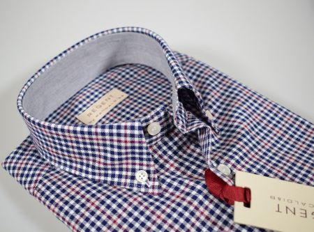 Checkered shirt aancaldi button down in shaved flannel