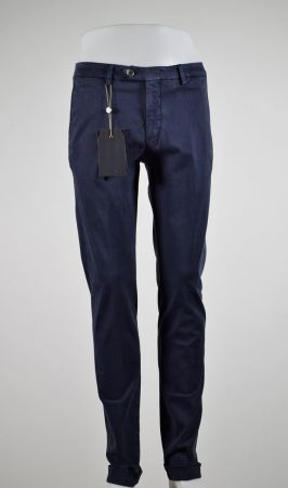 Bsettecento slim fit stretch cotton trousers in three colors