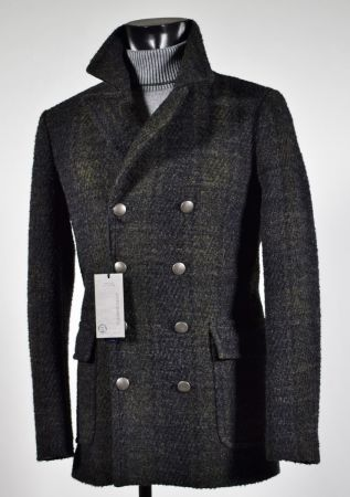 Blouson wool plaid John Barritt slim fit double breasted