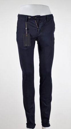 Trousers made in Italy bsettecento stretch cotton worked slim fit