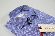 Camicia slim fit pancaldi azzurra micro disegno stampato