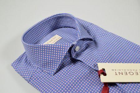 Slim fit pancaldi Blue micro printed design shirt