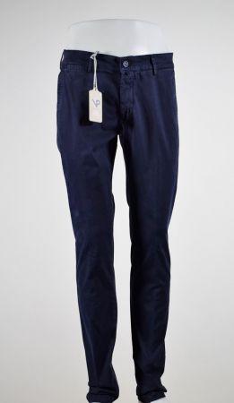 Pantalone viapiana cotone lavato stretch slim fit in cinque colori