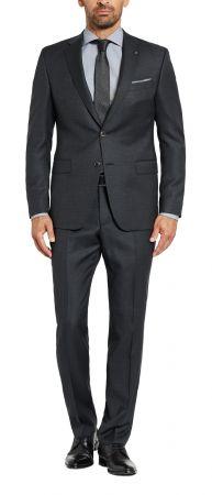 Abito digel grigio scuro micro fantasia lana reda super 110's drop sei modern fit