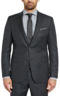 Abito digel drop quattro corto grigio scuro micro disegno lana reda super 110's