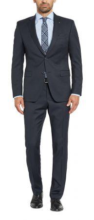 Dark blue micro design Digel drop dress six modern fit wool Reda 110 ' s