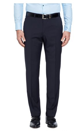 Trousers digel drop six modern fit in pure wool marzotto 100 's
