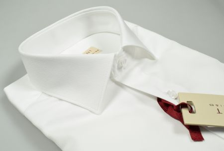 Camicia bianca pancaldi regular fit collo italiano