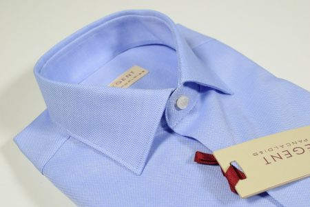 Camicia azzurra pancaldi regular fit cotone oxford