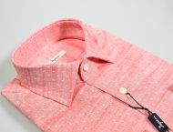 Ingram Slim Fit Polka shirt in pure cotton four colors