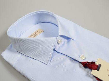 Camicia regular fit pancaldi celeste chiaro cotone alto pregio