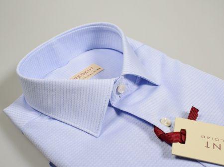Camicia classica celeste pancaldi regular fit collo italiano